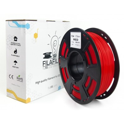 PLA Filament - PREMIUM - Red - 1Kg - 1.75mm