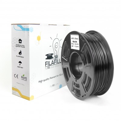 ABS Filament - PREMIUM - Black - 1Kg - 1.75mm