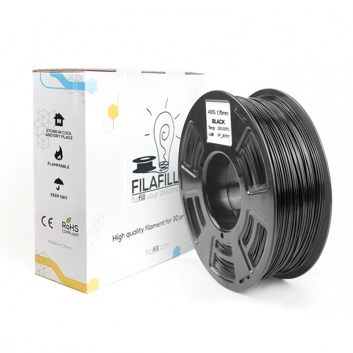 Filament ABS - PREMIUM - Negru - 1Kg - 1.75mm