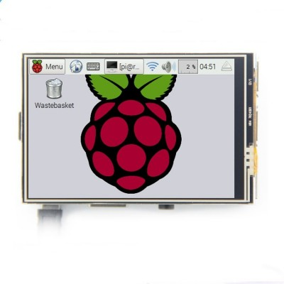 "Raspberry Pi display 3.5"" 320x480 LCD with touch"