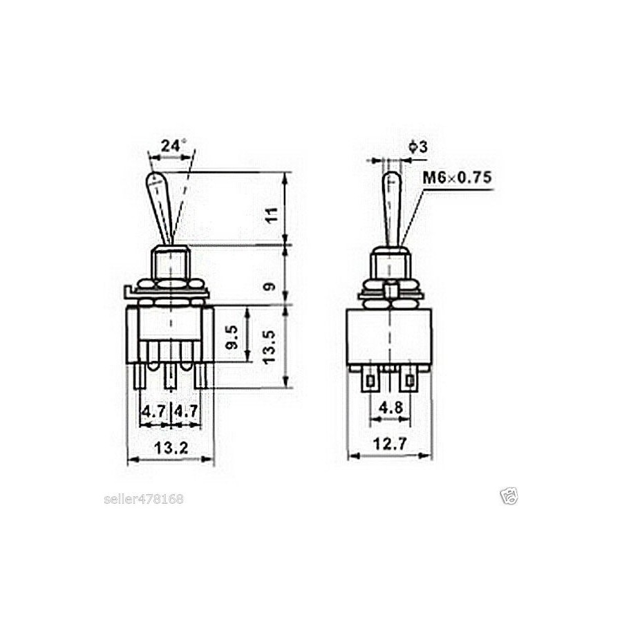 Microswitch 2 Rows 3 Positions Filafill Micro Switch Diagram