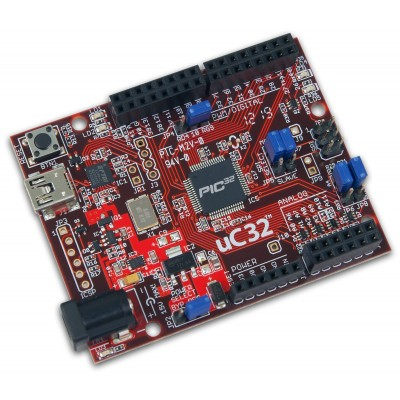 Development board uC32 PIC32MX340F512H