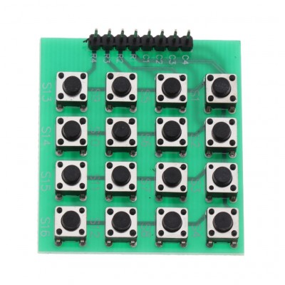 4x4 Push Button Keyboard Matrix Module