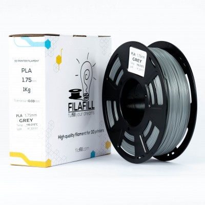 PLA Filament - PREMIUM - Grey - 1Kg - 1.75mm