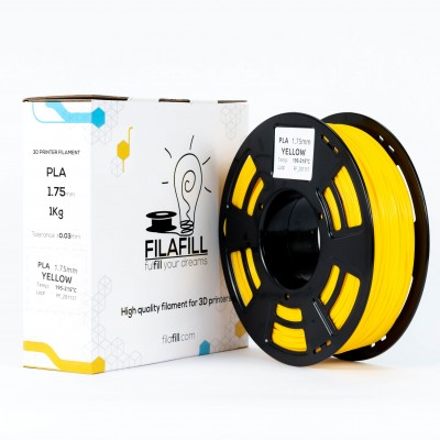 PLA Filament - PREMIUM - Yellow - 1Kg - 1.75mm