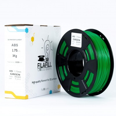 ABS Filament - PREMIUM - Green - 1Kg - 1.75mm