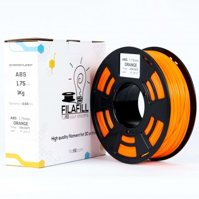 ABS Filament - PREMIUM - Orange - 1Kg - 1.75mm