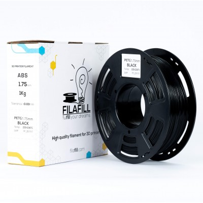 PETG filament - PREMIUM - Black - 1Kg - 1.75mm