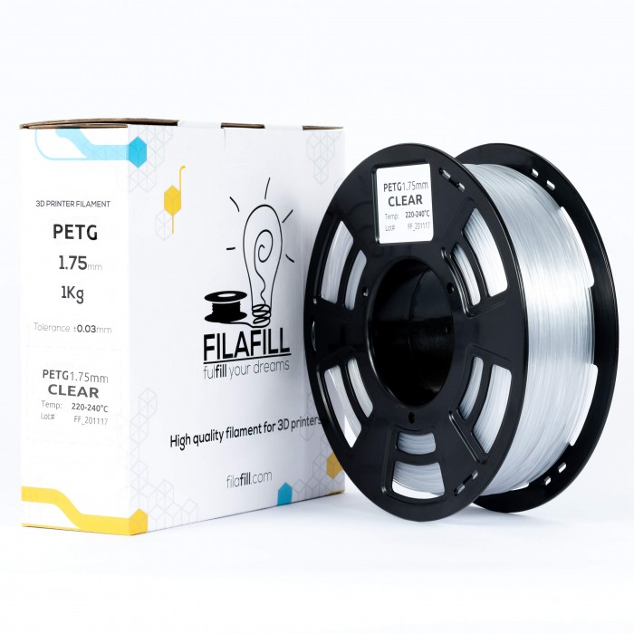 Filament PETG - PREMIUM - Transparent - 1Kg - 1.75mm