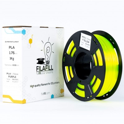 PETG filament - PREMIUM - Fluo Yellow - 1Kg - 1.75mm