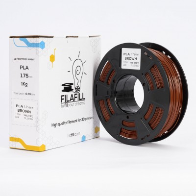 PLA Filament - PREMIUM - Brown - 1Kg - 1.75mm