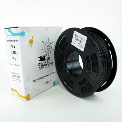 PLA Filament - PREMIUM - Carbon fill - 1Kg - 1.75mm