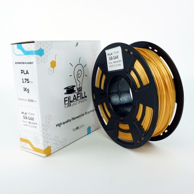 PLA Filament - PREMIUM - Golden metallic - 1Kg - 1.75mm