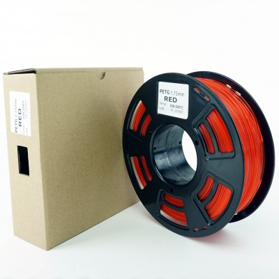 PETG filament - PREMIUM - Red - 1Kg - 1.75mm