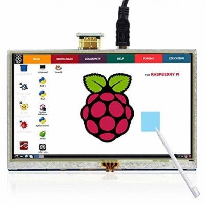 "Display 5"" Touch 800x480 HDMI Raspberry Pi"