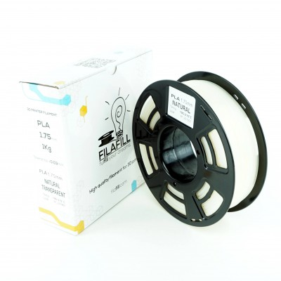 Filament PLA - PREMIUM - Natural Transparent - 1Kg - 1.75mm