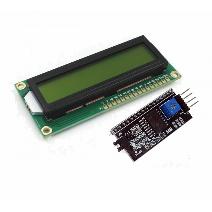 LCD Display 1602 verde + adaptor i2c