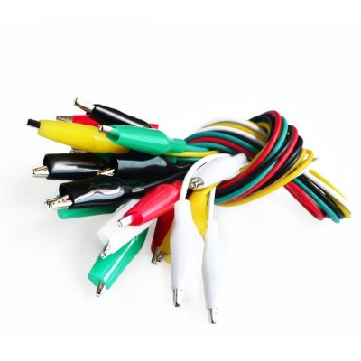 Alligator clip wire 10pcs - 46cm